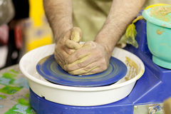 At the pottery class Stock Images