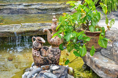 Pottery clay in pool Royalty Free Stock Images
