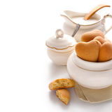 Pottery and Cookies Royalty Free Stock Images