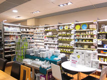 Pottery or crockery store display. Stock Photography