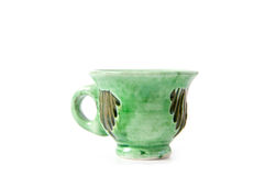 Pottery cup Royalty Free Stock Image
