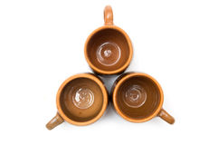 Pottery cups formation Royalty Free Stock Photos