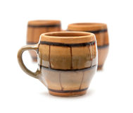Pottery cups Royalty Free Stock Photo