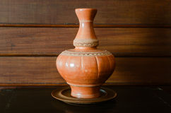 Pottery decanter Royalty Free Stock Photos