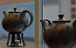 Pottery from Denmark. Hand made. teapot Royalty Free Stock Image