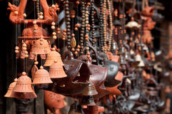Pottery and different ceramic handicrafts in the market  Royalty Free Stock Image