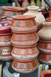 Pottery on Display Royalty Free Stock Images