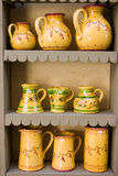 Pottery display. Functional and decorative Provence pottery Stock Photo