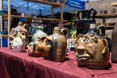 Pottery on display at Cityfest stock photography