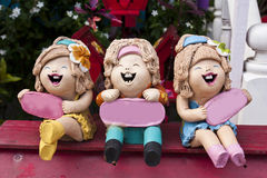 Pottery Dolls Royalty Free Stock Image