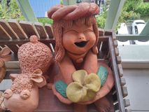 Pottery dolls Stock Photos
