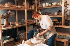 Pottery drying with special dryer Royalty Free Stock Photography