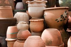 Pottery earthenware Royalty Free Stock Images
