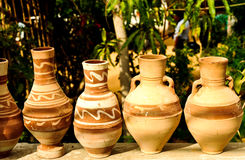 Pottery in Egypt Royalty Free Stock Photos