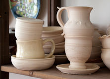 Pottery examples Royalty Free Stock Photos
