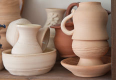 Pottery examples Stock Photography