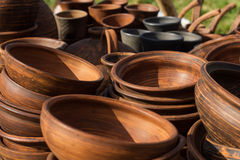 Pottery exposition. At country fair stock photo