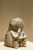 Pottery figurine. The close-up of the North American ancient Indian pottery figurine Stock Photos