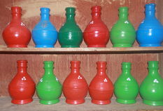 Pottery Handicraft In Kashmir-1. Royalty Free Stock Photo