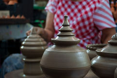 Pottery handicraft  in thailand Stock Photo