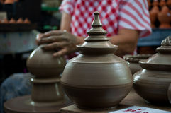 Pottery handicraft  in thailand Stock Photography