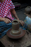 Pottery handicraft  in thailand Royalty Free Stock Images