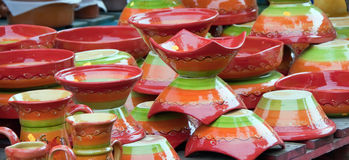 Pottery handicrafts Royalty Free Stock Photography