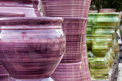 Pottery handicrafts Stock Photos