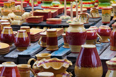 Pottery handicrafts Stock Images