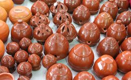 Pottery handicrafts Royalty Free Stock Images