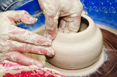 Pottery handmade Royalty Free Stock Images