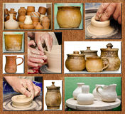 Pottery handmade Royalty Free Stock Photography