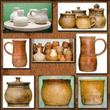 Pottery handmade Stock Images