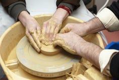 Pottery handmade art and craft stock photos