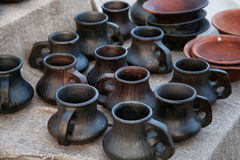 Pottery handmade Stock Photography