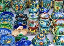 Pottery in Horezu, Romania Stock Images