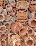 Pottery. Handmade pottery expose for sell Stock Photography