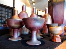 Pottery handmade from japan stock photos