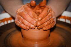 Pottery handmade Stock Photos