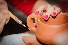 Pottery handmade Stock Image