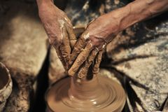 Pottery handmade in workshop â…¢ stock image