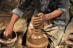 Pottery handmade in workshop â…¤ stock images