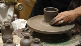 Pottery. stock video footage