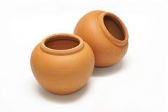 Pottery jars Royalty Free Stock Photography