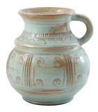 Pottery jug isolated Royalty Free Stock Images
