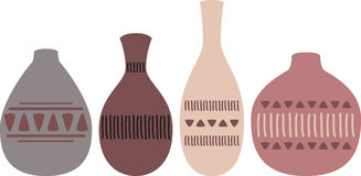 Pottery Jugs Stock Photo