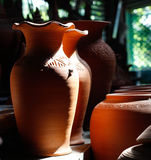 Pottery. @ Ko Kret Thailand Handmade 100 Royalty Free Stock Images