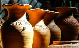 Pottery. @ Ko Kret Thailand Handmade 100 Royalty Free Stock Photos
