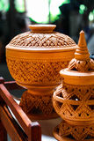 Pottery. @ Ko Kret Thailand Handmade 100 Stock Photography