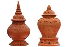 Pottery. Of Koh Kret, Nonthaburi. As an indication of the countrys geography is intricately carved Stock Photography